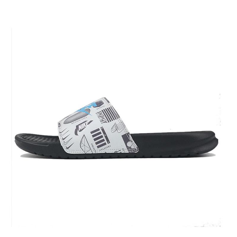 耐克NIKE BENASSI JDI PRINT 男鞋 沙滩鞋凉拖鞋一字拖  631261-041