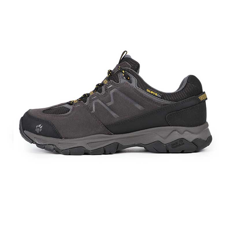 狼爪 JackWolfskin 男子 户外登山鞋透气低帮徒步鞋越野鞋4017582-3800