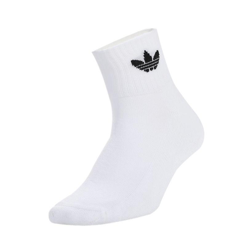 阿迪达斯三叶草ADIDAS MID ANKLE SCK 男女 运动三双装中筒透气袜子 FT8529