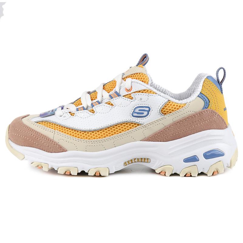 斯凯奇 Skechers 女鞋 D'LITES熊猫鞋绑带缓震运动鞋 13146-WYL
