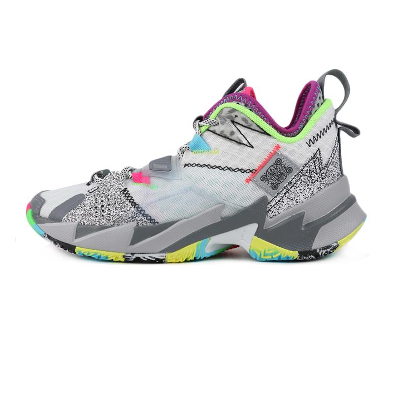 耐克 NIKE JORDAN WHY NOT ZER0.3 (GS) 儿童 运动鞋训练耐磨透气休闲篮球鞋基础款 CD5804-100