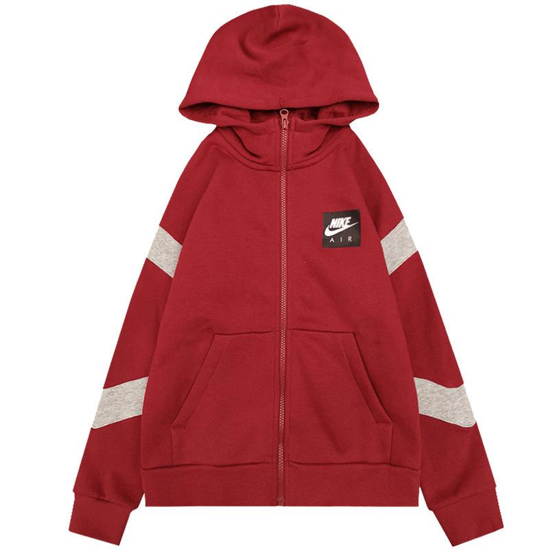 耐克 NIKE 童装 冬季新款男童女童儿童运动服针织连帽夹克外套 CD7291-677