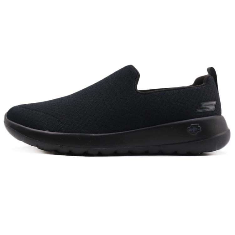 斯凯奇 Skechers 男子 透气网布健步鞋懒人休闲运动鞋54635-BBK 54635-NVGY 54635-BKW