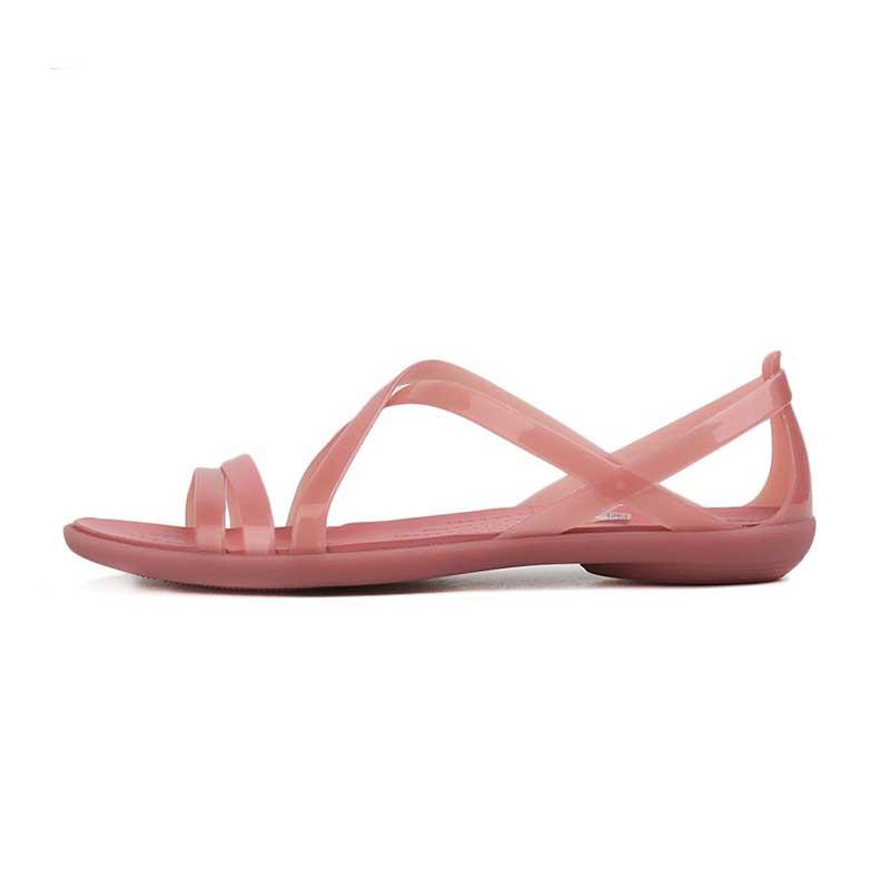 卡骆驰Crocs 女鞋 透气耐磨轻便运动鞋伊莎贝拉束带仙女风沙滩凉鞋凉鞋 204915-682