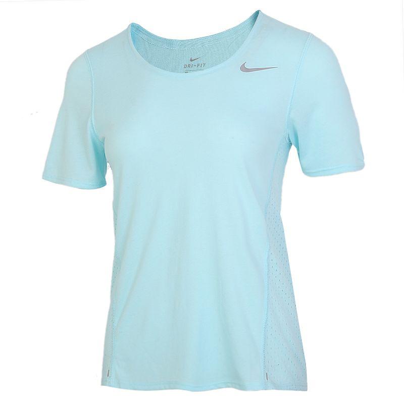 耐克NIKE AS  CITY SLEEK SOFT 女装 运动跑步训练健身透气舒适休闲圆领短袖T恤 CU3235-434
