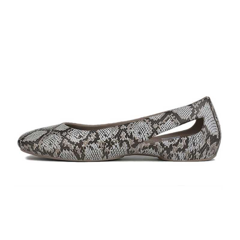 卡骆驰 Crocs 女鞋 思珑图案平底鞋单鞋耐磨透气时尚休闲鞋 206210-195