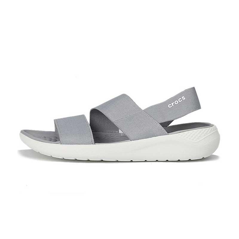卡骆驰 Crocs 女鞋 LiteRide休闲时尚耐磨透气舒展凉鞋 206081-00J