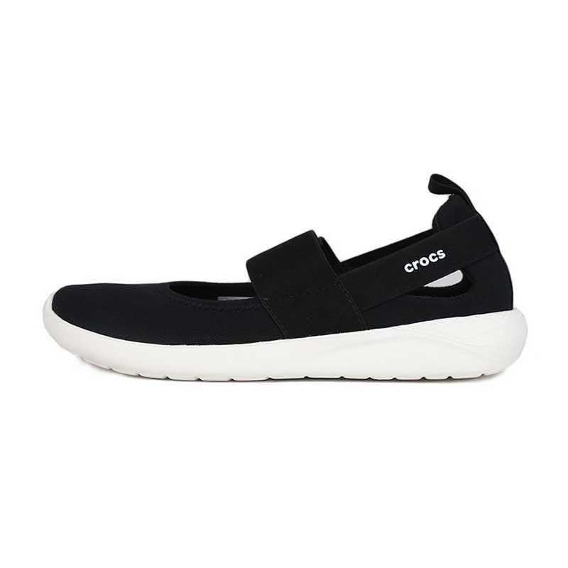 卡骆驰 Crocs 女鞋 时尚耐磨舒适透气LiteRide玛丽珍便鞋低帮休闲鞋 206082-066