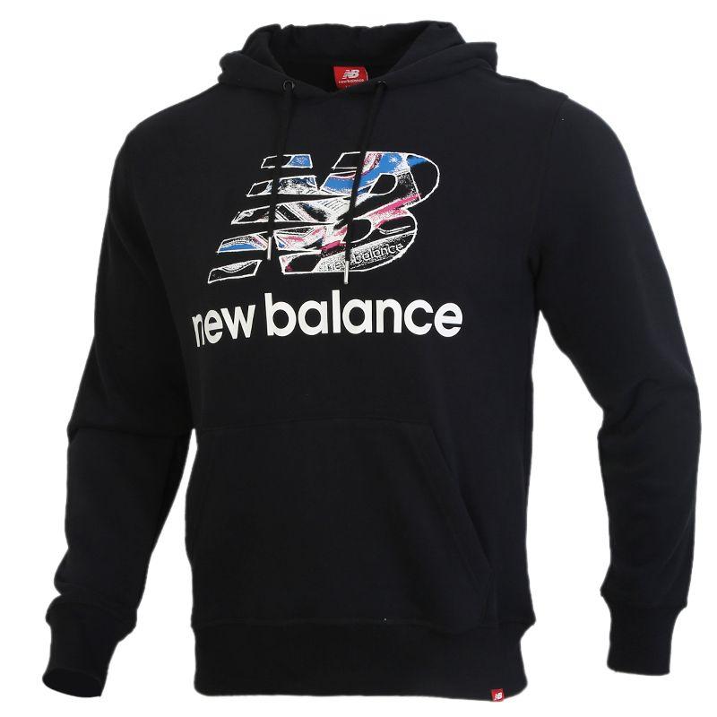 New Balance 男装 运动服套头衫长袖卫衣 AMT91529-BK