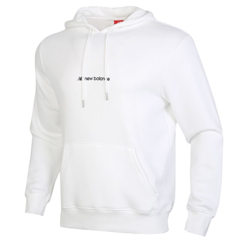 New Balance 男装 运动时尚休闲训练简约舒适加绒保暖卫衣套头衫 AMT93511-WT