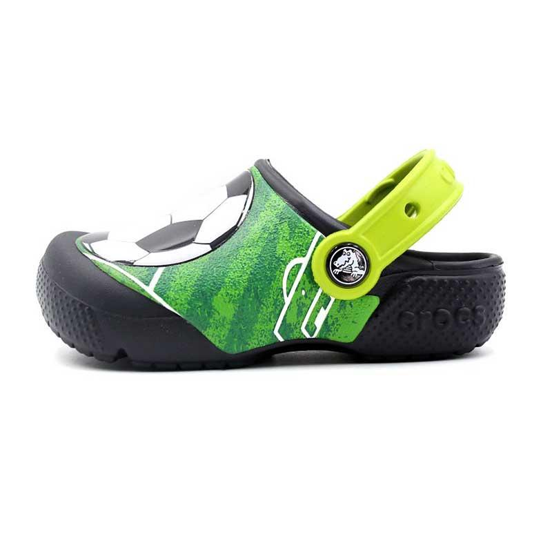卡骆驰 Crocs 趣味学院足球小克骆格 儿童 凉拖鞋 拖鞋 205401-001