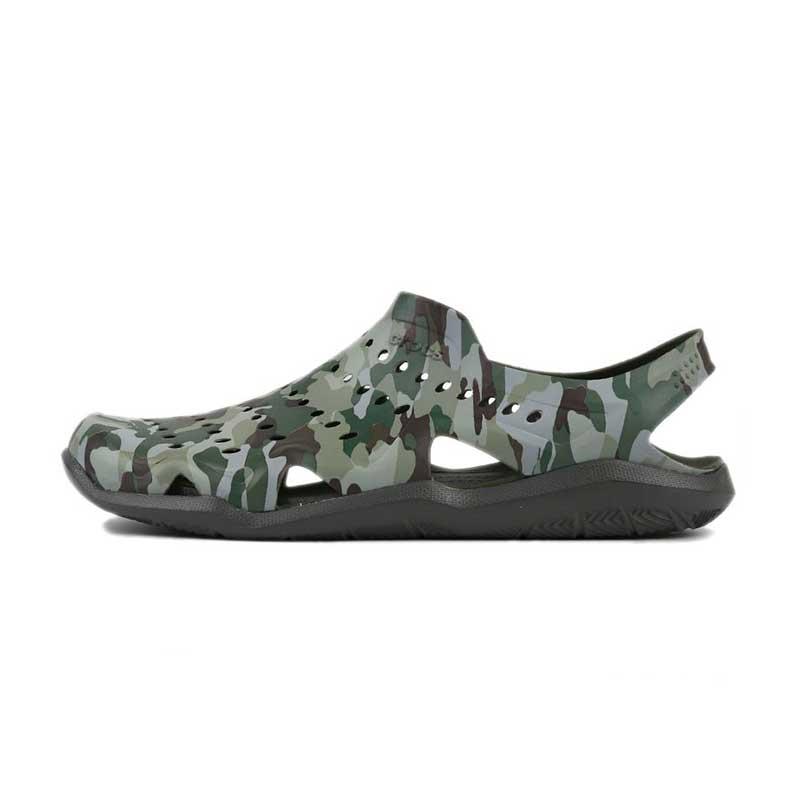 卡骆驰 Crocs 男子 激浪迷彩凉鞋  206010-97G