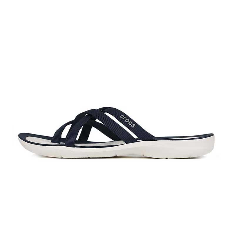 卡骆驰 Crocs 女子 激浪织带人字拖凉鞋 205479-462