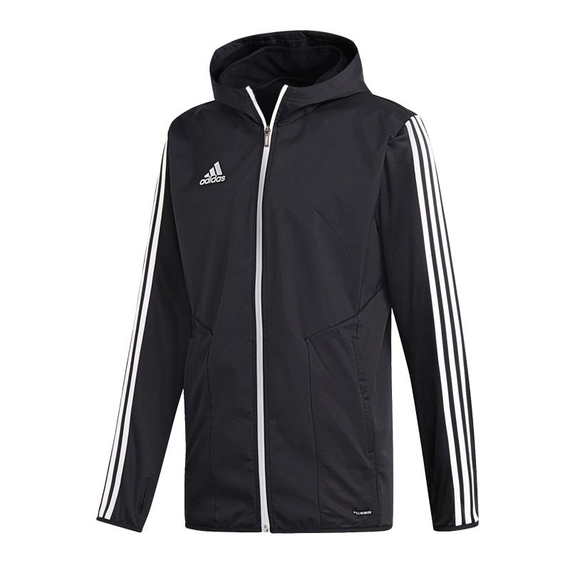 阿迪达斯 Adidas 男装  运动TIRO19 WRM JKT加绒保暖连帽开衫夹克外套 D95955