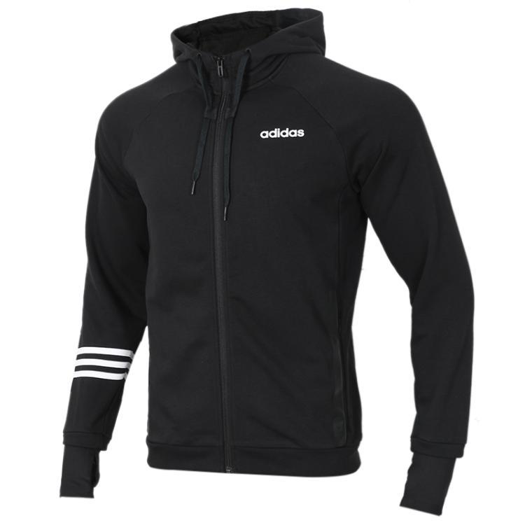 Adidas阿迪达斯男装上衣 2019春季 运动服针织连帽防风健身训练夹克开衫外套DT8994