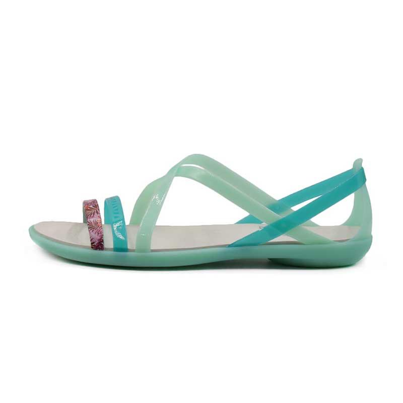 卡骆驰 Crocs 女子 伊莎贝拉花卉束带休闲平底凉鞋 205150-35I