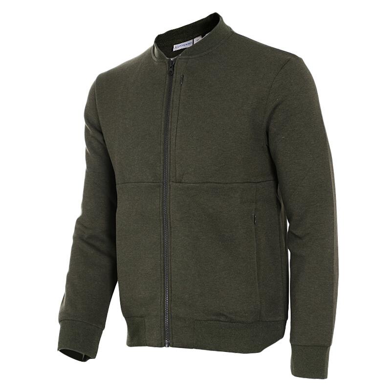 能量男装  运动健身跑步训练时尚休闲透气开衫圆领夹克外套262507-821