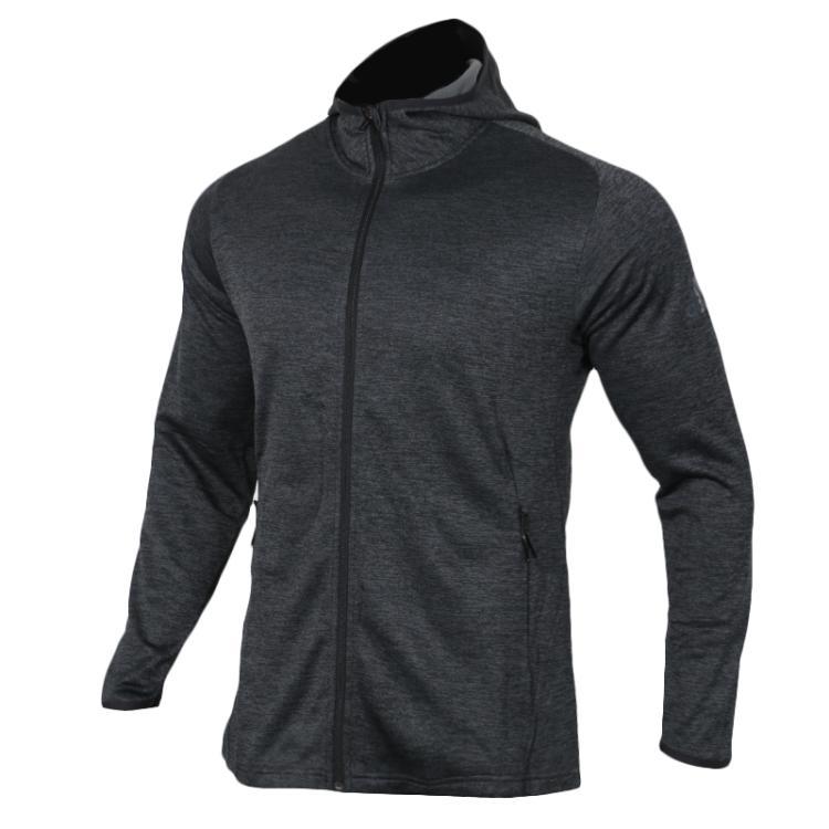 Adidas阿迪达斯男装上衣 2019春 运动训练夹克加绒保暖休闲时尚连帽针织外套DM4386