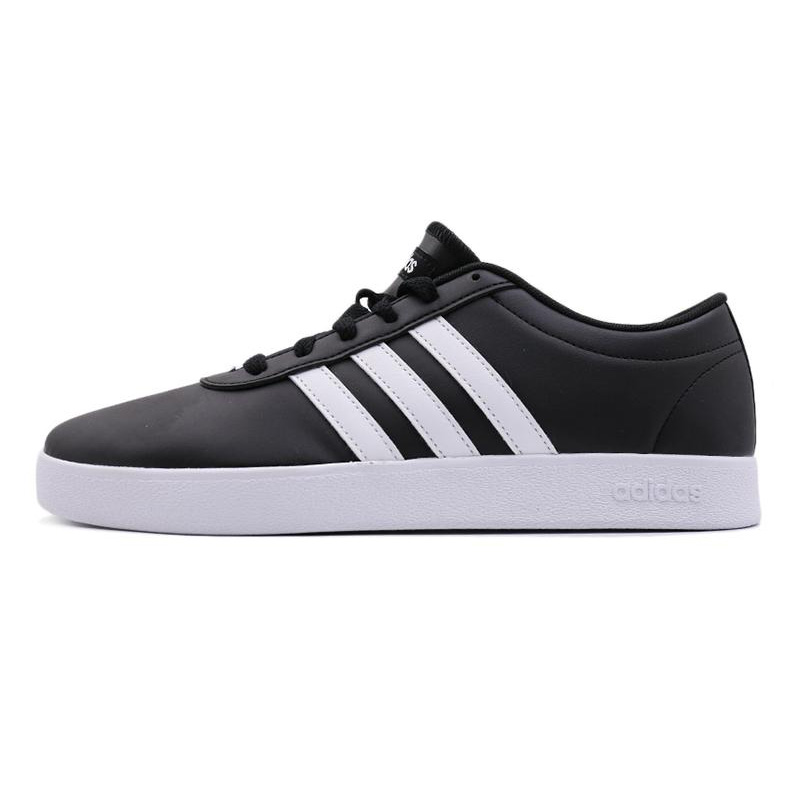 Adidas阿迪达斯 男鞋 低帮小白鞋学生休闲鞋轻便防滑耐磨保暖运动鞋 黑白B43665