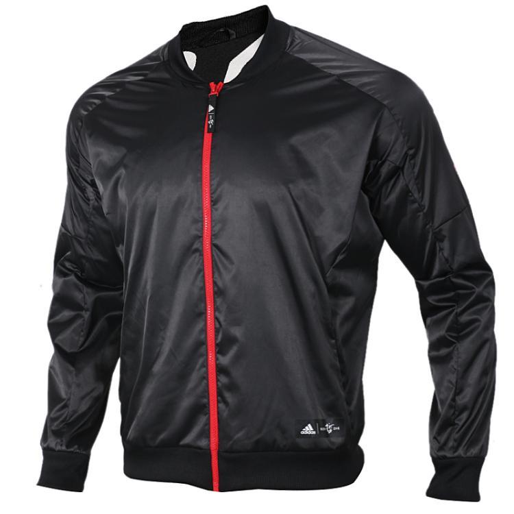 阿迪达斯男装上衣 2019春季新品运动休闲时尚立领夹克CNY猪年新年款罗斯篮球外套 DP5744