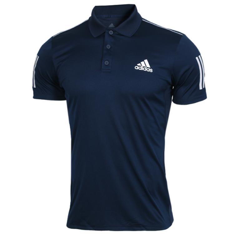 阿迪达斯Adidas CLUB 3STR POLO 男子 运动舒适透气半袖T桖 DU0850