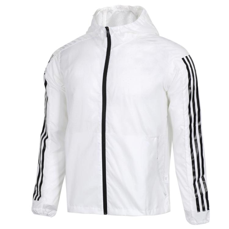 Adidas 阿迪达斯 WB 3S 男子 防风衣运动服梭织连帽夹克 EK4725 EK4727
