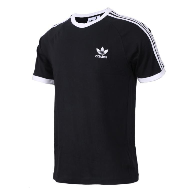 阿迪达斯三叶草 Adidas 男子 运动服跑步舒适透气休闲圆领短袖T恤 CW1202 CW1203
