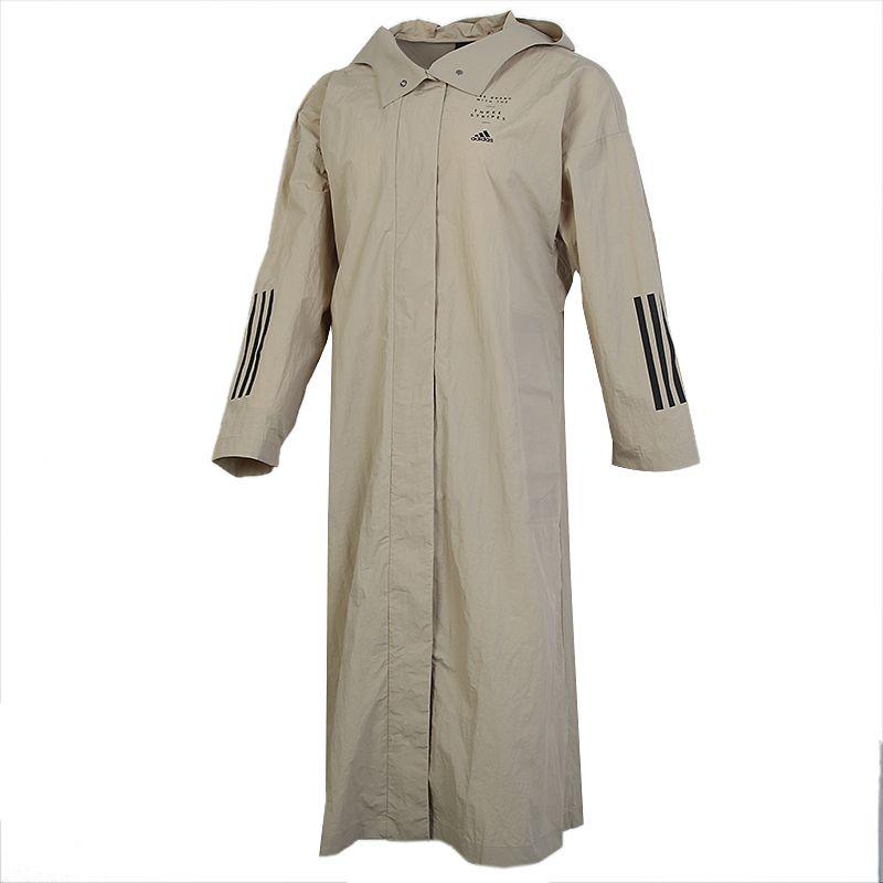 阿迪达斯ADIDAS STL LT COAT 女装 运动长款夹克透气连帽风衣外套 GF7027