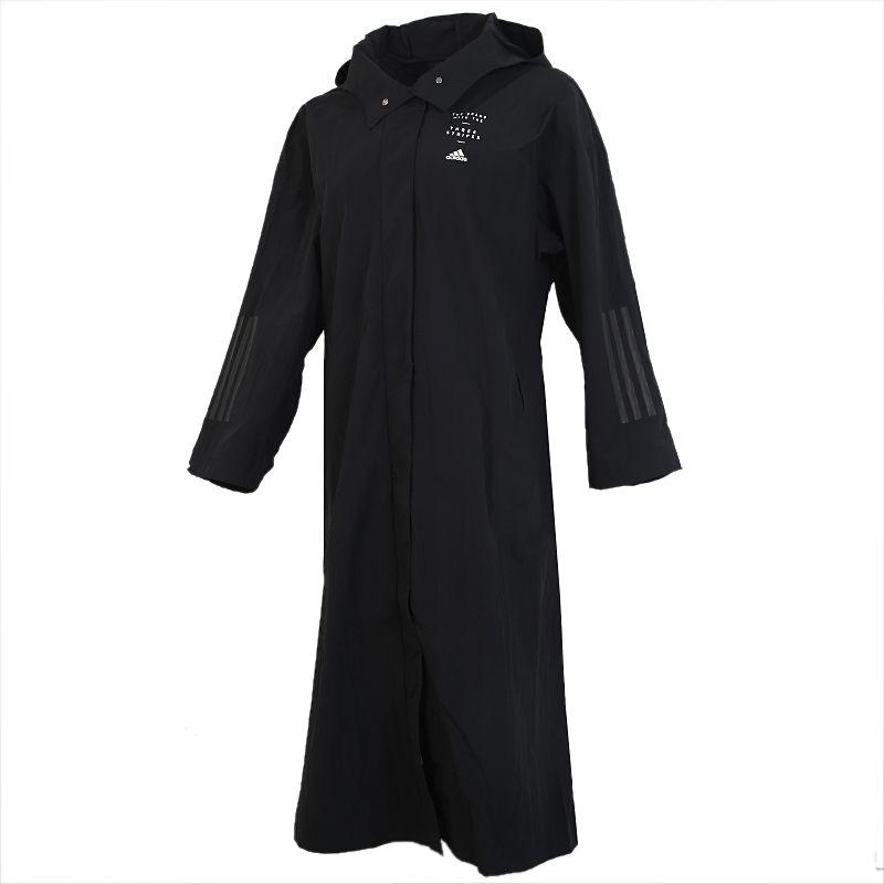 阿迪达斯ADIDAS  STL LT COAT 女装 运动长款夹克透气连帽风衣 GF7033