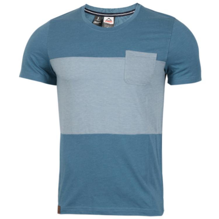 肯励 McKINLEY 男子 户外休闲运动透气训练圆领针织时尚潮流短袖T恤 281009-901911