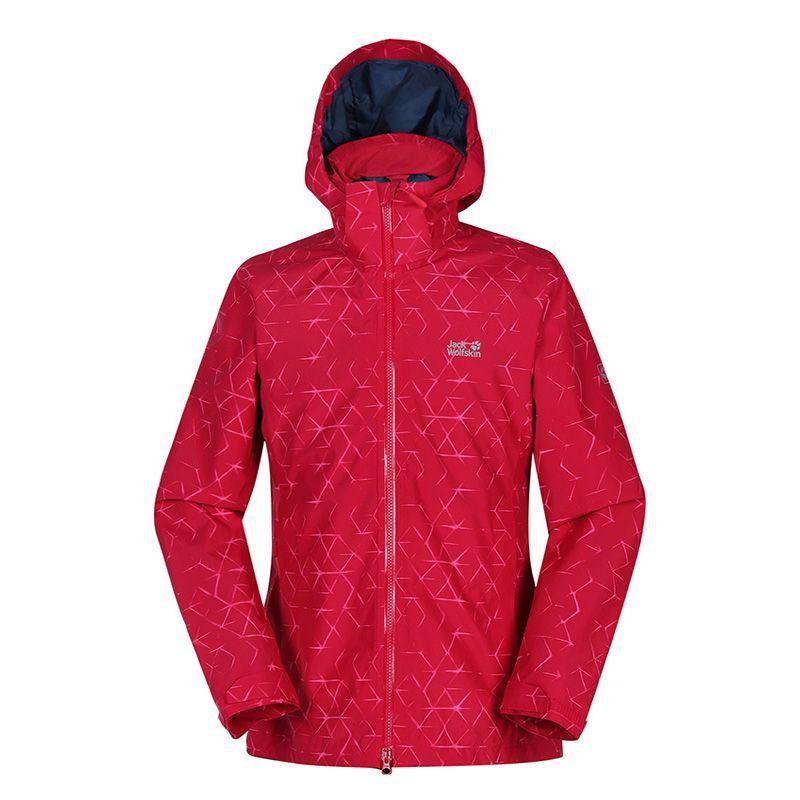 狼爪 Jack wolfskin 女子户外登山服防水防风单层冲锋衣外套夹克 2.5层 5118421-8101