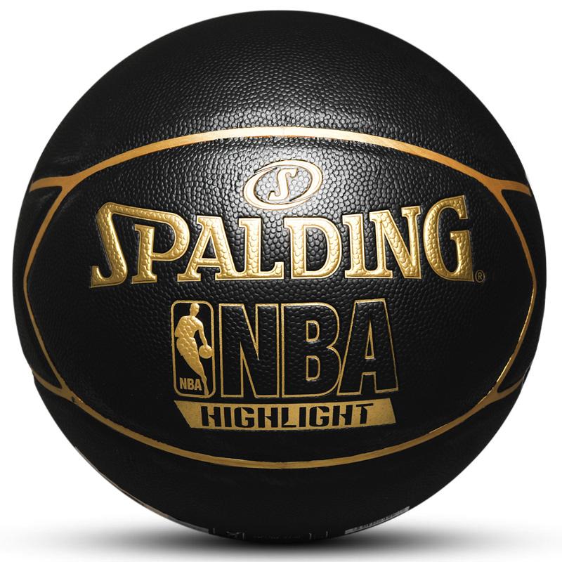 斯伯丁Spalding  男女 金色NBA LOGO室内室外PU篮球 74-634Y