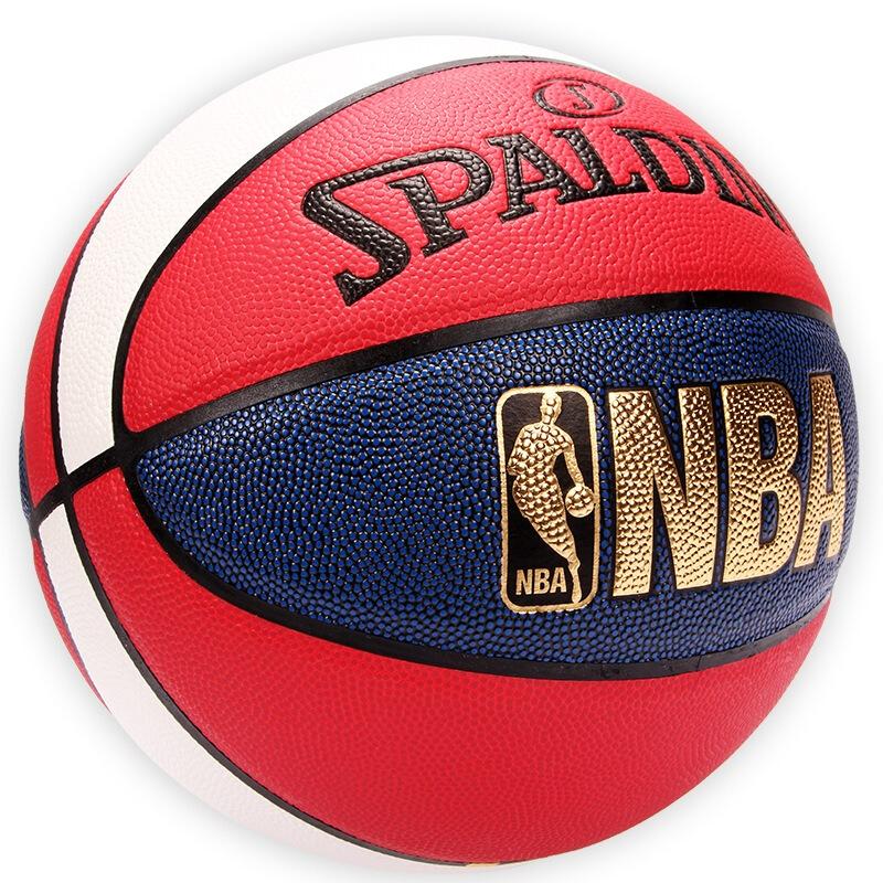 正品斯伯丁NBA掌控比赛耐磨7号篮球室外室内专用74-655Y