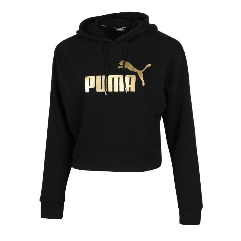 彪马PUMA ESS+ Metallic Cropped Hoody TR 女装 金标连帽套头衫外套 586922-56