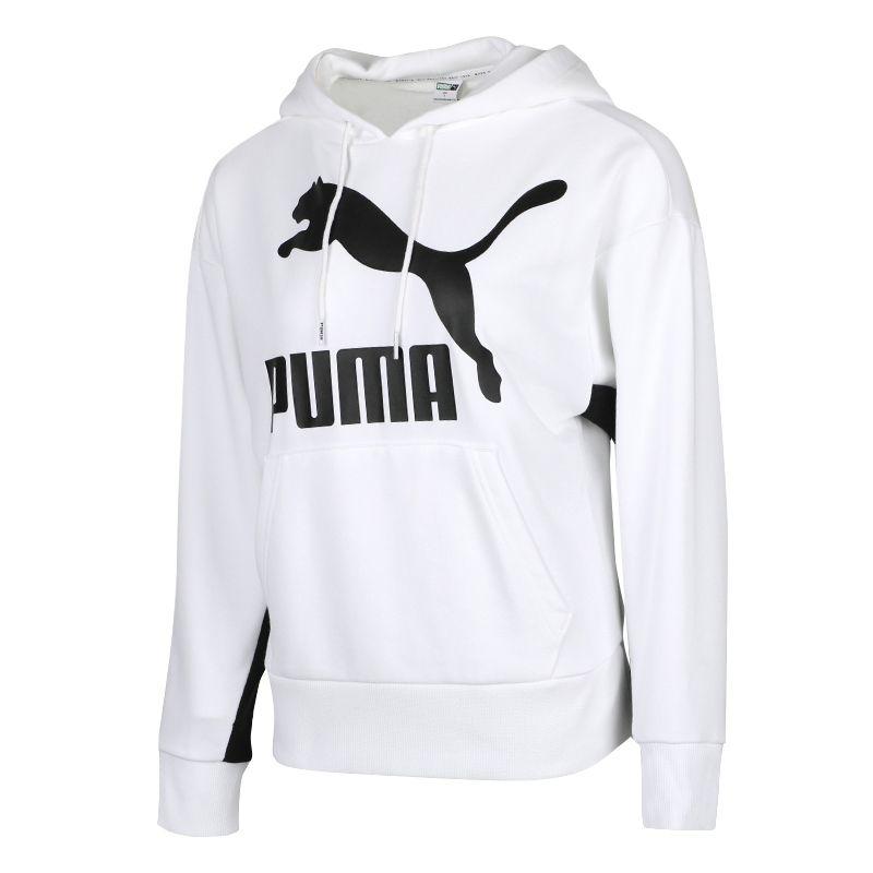 彪马PUMA Classics Logo Hoody Regular fit 女装 运动休闲针织卫衣 599197-02