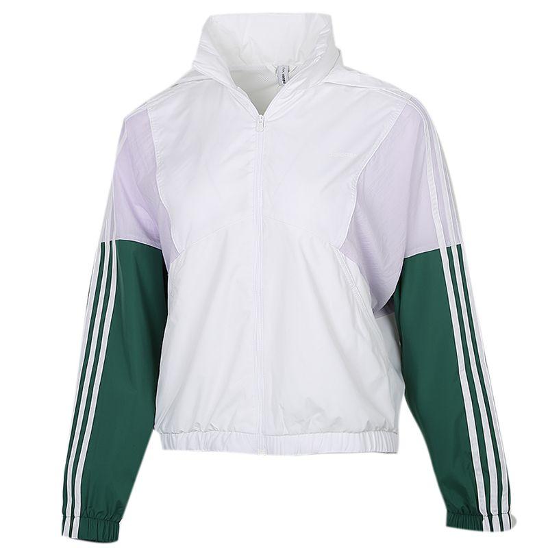 阿迪生活Adidas NEO  女装 运动服跑步训练透气舒适快干休闲梭织夹克外套 GJ5353