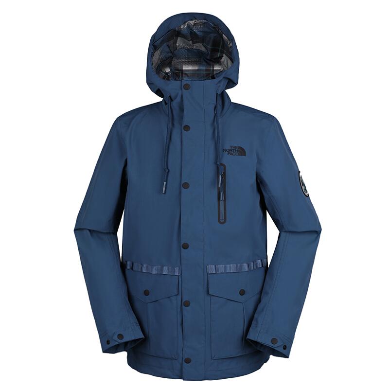 北面 TheNorthFace 男子 户外运动服防风休闲时尚保暖连帽夹克外套3V3OHDC