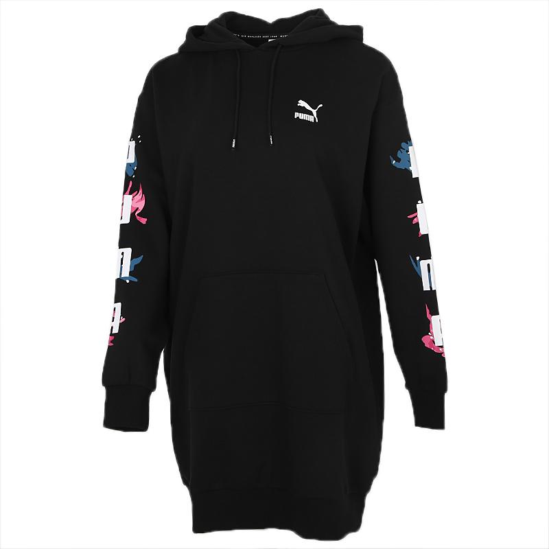 彪马PUMA Classics Hooded Longsleeve Dress 女装 运动服连衣裙套头衫 599974-01