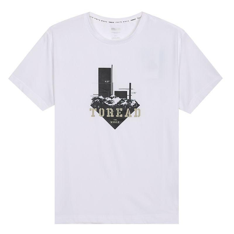 探路者TOREAD  男装 休闲户外短袖透气圆领短袖T恤 TAJI81921-G02X