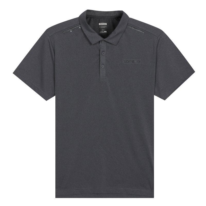 探路者TOREAD 男装 运动服户外薄款透气速干POLO衫休闲短袖T恤 TAJI81967-G08X