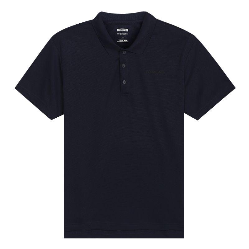探路者TOREAD 男装 运动半袖POLO衫休闲透气T恤 TAJI81937-C03X