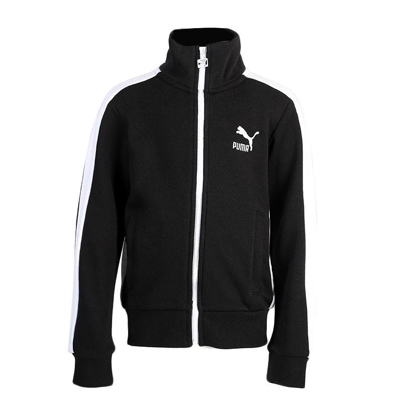 彪马PUMA Classics T7 Track Jacket G 儿童 运动防风衣休闲训练外套夹克 583339-01