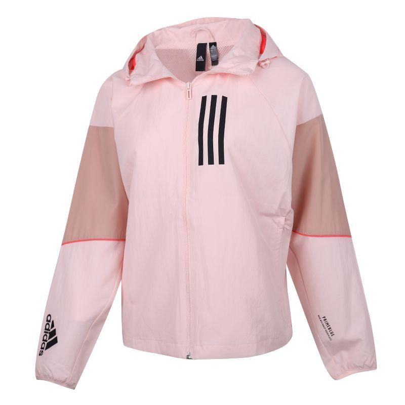 阿迪达斯ADIDAS adidas 女装 2020秋冬新款运动休闲防风衣透气梭织外套 GF0133