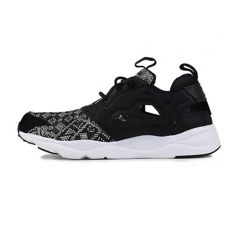 锐步 Reebok FURYLITE GT 女子 黑白图腾时尚运动鞋训练健身舒适透气休闲跑步鞋 BD4461