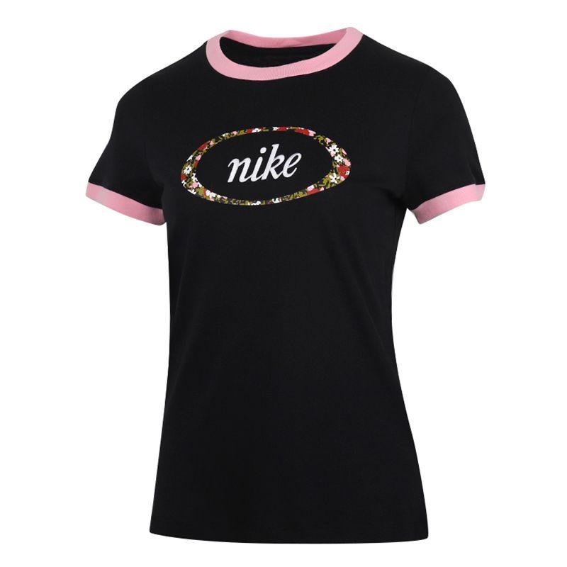 耐克NIKE  NSW TEE FEMME RINGER 女装 运动跑步训练透气T恤 CV3764-010