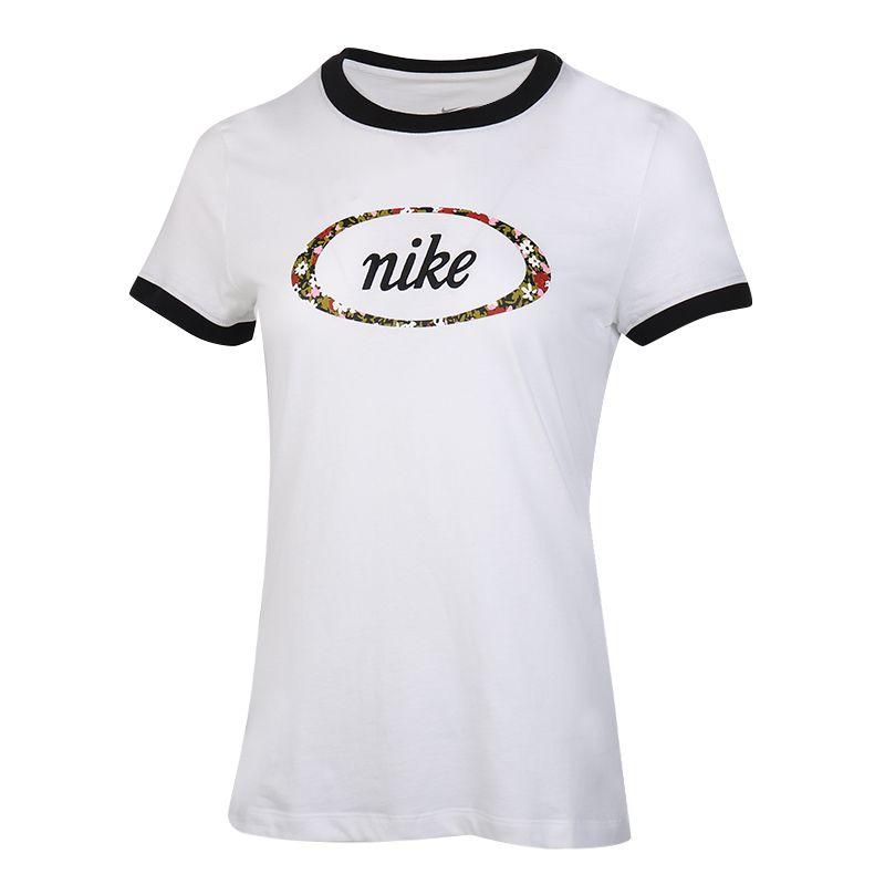 耐克NIKE  NSW TEE FEMME RINGER 女装 运动跑步舒适休闲短袖T恤衫 CV3764-100