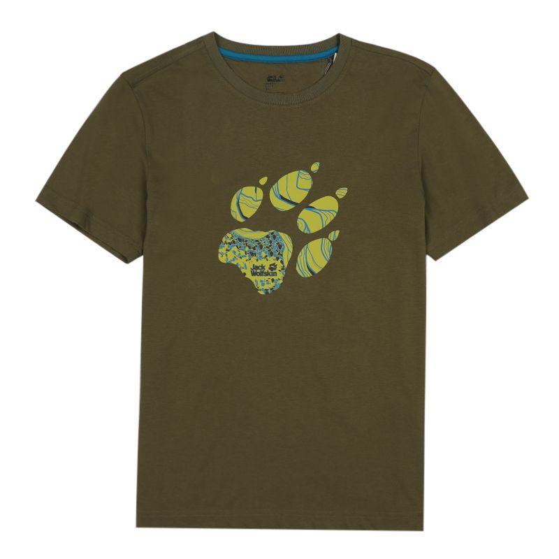 狼爪Jack wolfskin C500078-5033 男装 户外运动休闲舒适透气时尚圆领短袖T恤 C500078-5033