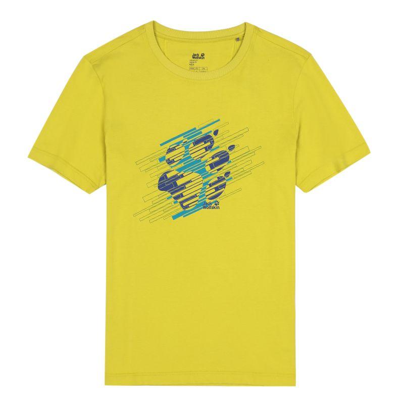 狼爪Jack wolfskin 男装 户外运动休闲透气圆领短袖T恤 C500080-4240