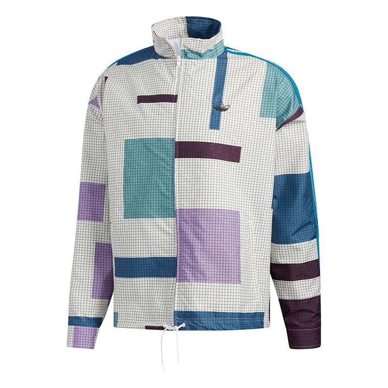 阿迪达斯三叶草 ADIDAS 男装 运动服舒适耐磨防风宽松外套夹克 ED5511