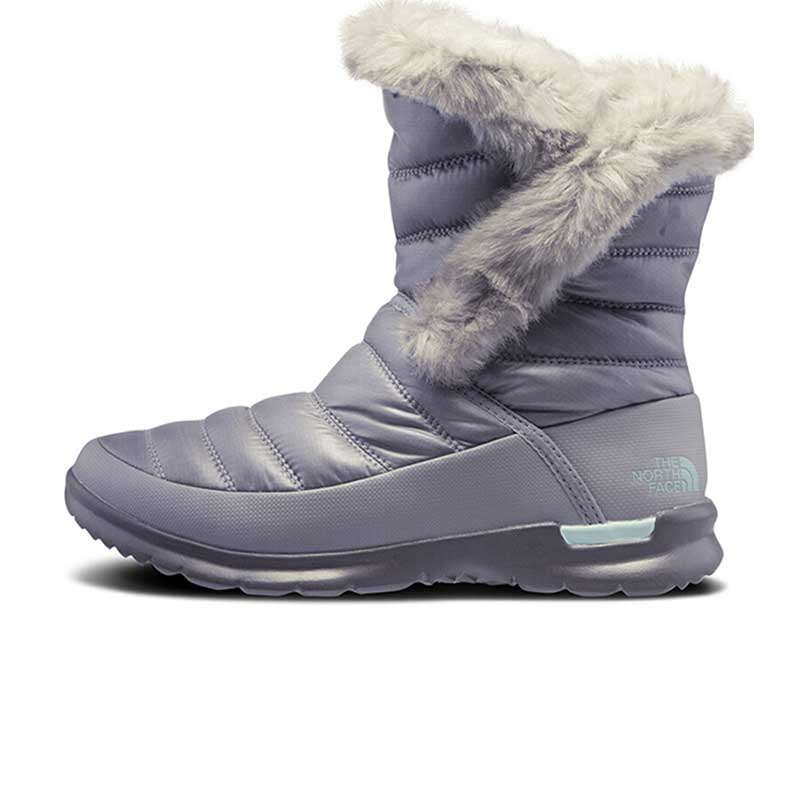 北面 TheNorthFace 女子 冬季 户外保暖鞋舒适抓地高帮雪地靴棉鞋2T5J5VP